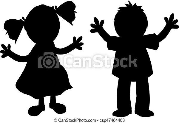 kids silhouette high five clip art we rock high five clip art we rock