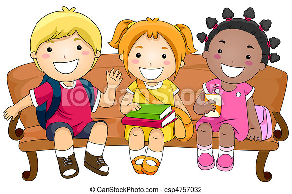 Child Sitting Clipart