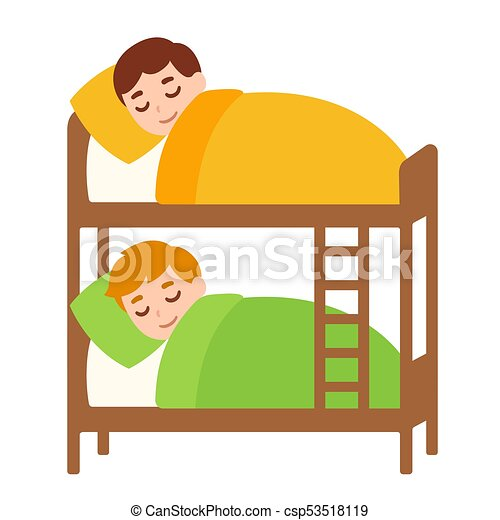 kids sleeping in bunk bed little boys sleeping in bunk bed rh canstockphoto com clipart little boy sitting clipart little boy sitting