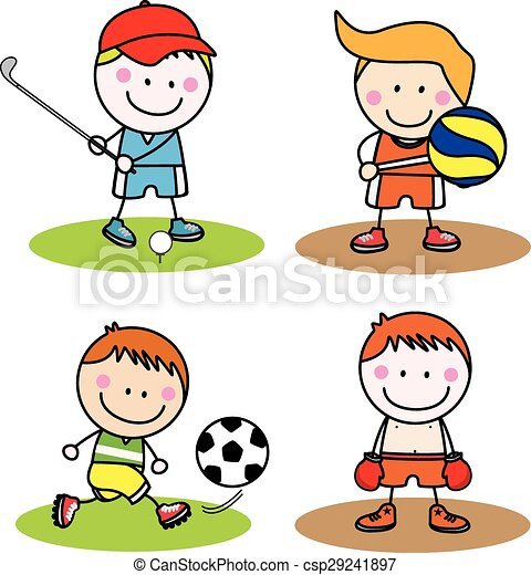 kids sport collection eps vectors search clip art illustration rh canstockphoto com clip art collections for sale clip art collection fruits and vegetables