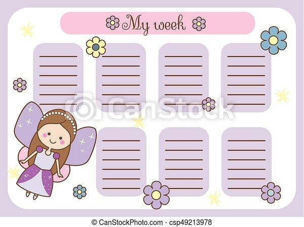 weekly planner schedule
