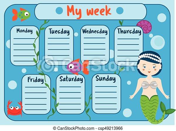 cute timetable