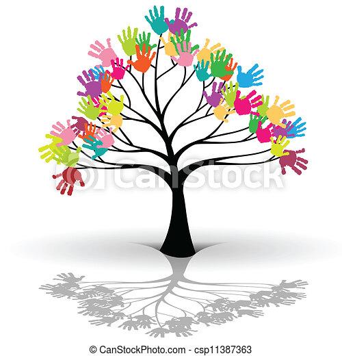 illustration of kids tree as a symbol of ecology clip art vector rh canstockphoto com Environment Clip Art Chemistry Clip Art