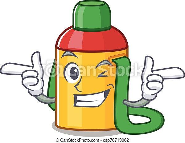 Kids Water Bottle Scroll Mascot Cartoon Design With Wink Eye Vector Illustration Canstock