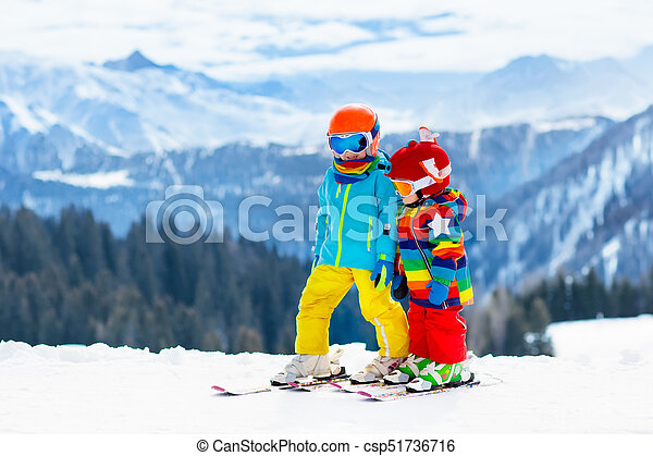 how to teach a child to downhill ski