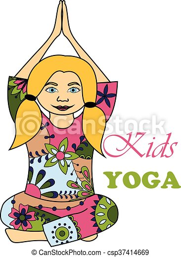 Kids Yoga Colorful Vector