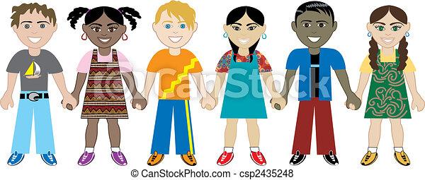 kidsholdhands3 - csp2435248
