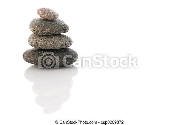 kiesel, zen, stapel - csp0209872
