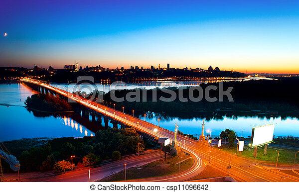 Kiev City - the capital of Ukraine. Night View - csp11096642