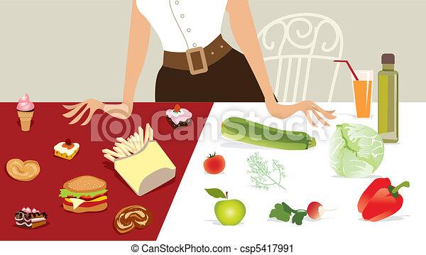 kiezen, dieet - csp5417991