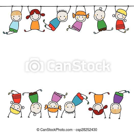 Glückliche Kinder spielen - csp28252430