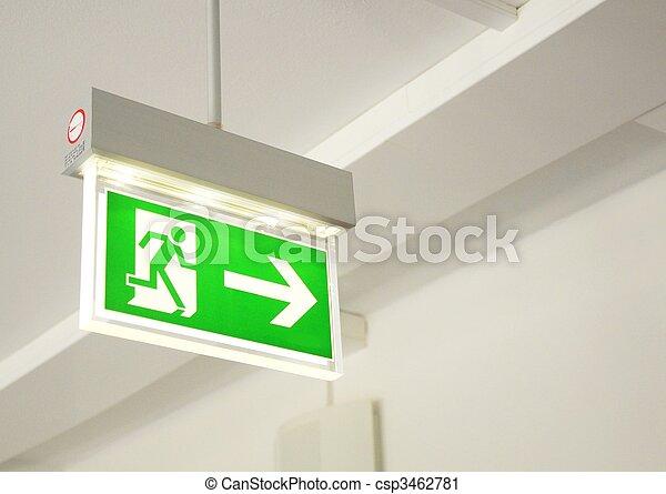 kijárat, szükséghelyzet - csp3462781