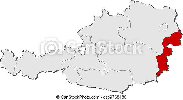 ausztria térkép vorarlberg Kijelölt, térkép, burgenland, ausztria. Térkép, politikai  ausztria térkép vorarlberg