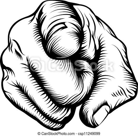 kijker, wijzende hand - csp11249099