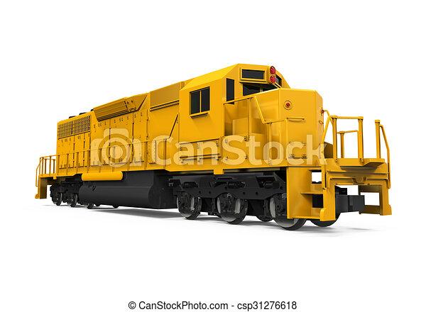 kiképez, sárga, rakomány - csp31276618