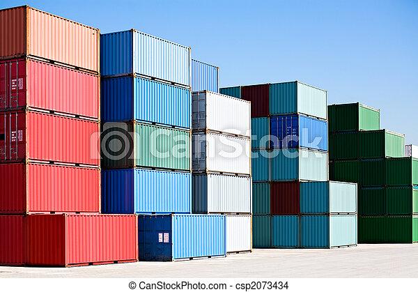 kikötő, teherárú tároló, rakomány, végső - csp2073434