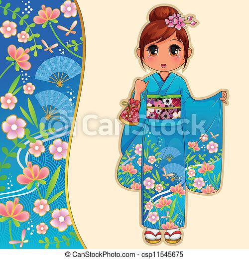 kimono girl - csp11545675