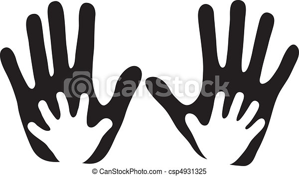 Kinderhände in erwachsenen Händen - csp4931325