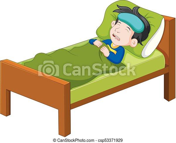Kind liegen bett krank. liegen abbildung bett kind.