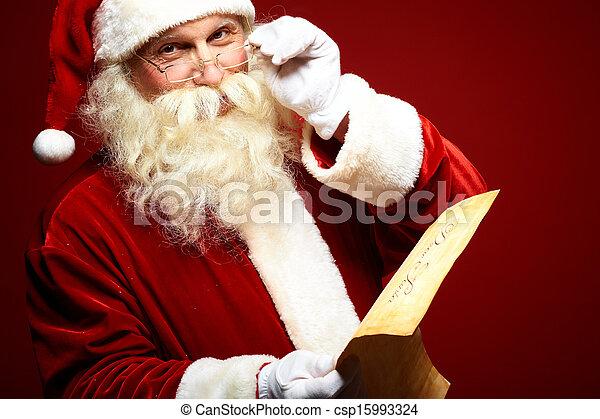 Kind Santa Claus - csp15993324