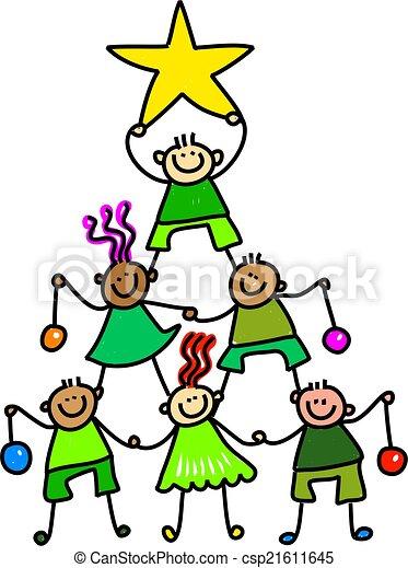 Weihnachten Kinder.Kinder Baum Weihnachten