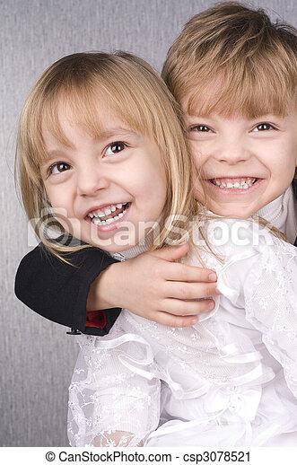 kinder, glücklich - csp3078521