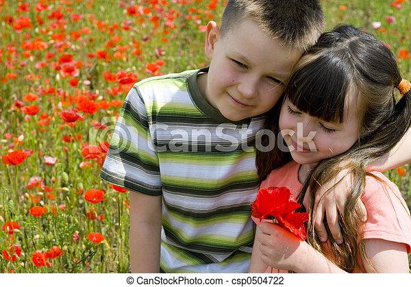 kinder, glücklich - csp0504722