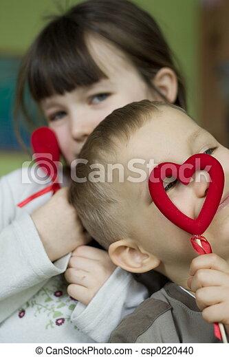 kinder, glücklich - csp0220440