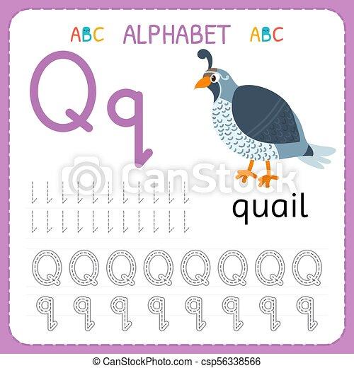 Kinder, kindergarten., alphabet, üben, schreibende, arbeitsblatt ...