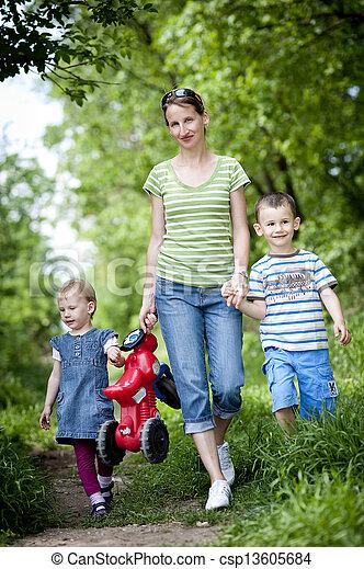 Mutter mit Kindern - csp13605684