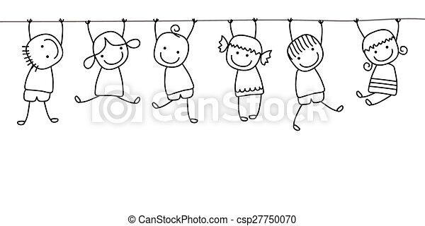 kinder, spielende , glücklich - csp27750070