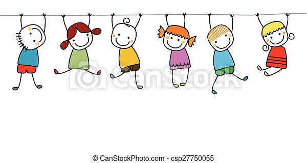 Fröhliche Kinder spielen - csp27750055