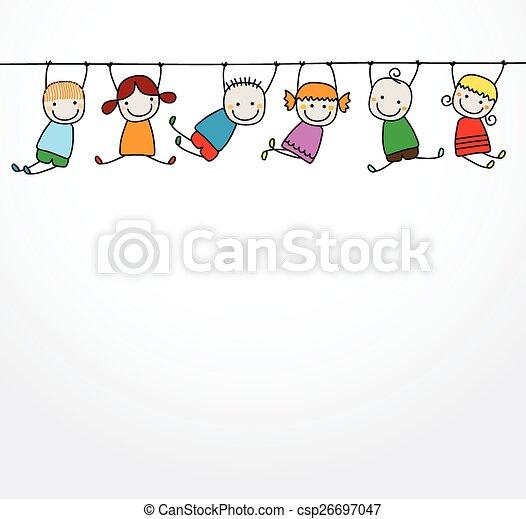 Fröhliche Kinder spielen - csp26697047