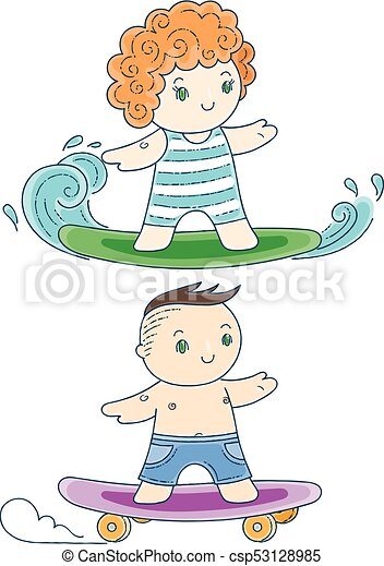 kinder surfbrett
