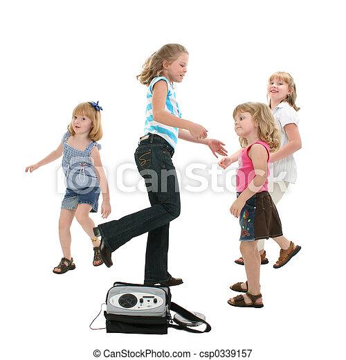 kinder tanzen koerper ausschnitt voll gruppe tragbar tanzen dvd aus player white. Black Bedroom Furniture Sets. Home Design Ideas