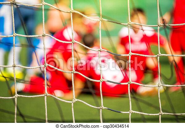 Kinder Fussball Team Feiern Tor Und Sieg Entfokussiertes