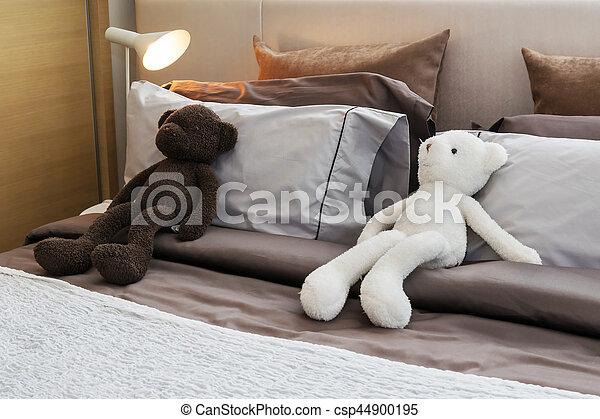 Kinder Zimmer Bett Daheim Puppen Kissen Kinder Zimmer Modern