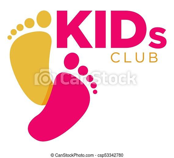 Kinder, zone, farbe, kind, letters., logo, vortrag halten ...