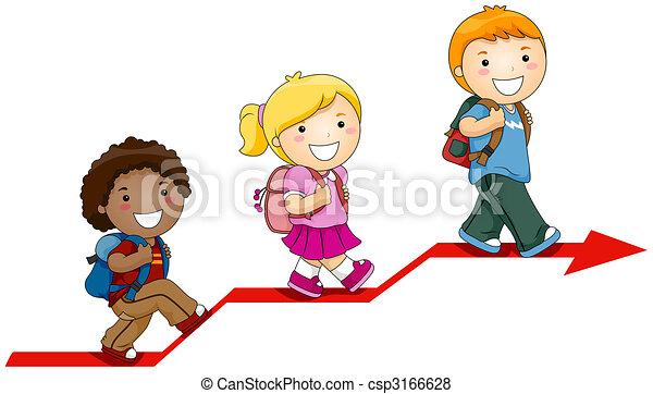 kinderen, leren - csp3166628