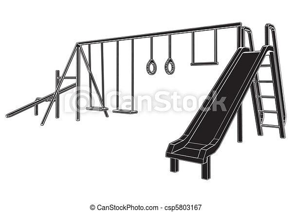 kinderen, speelplaats - csp5803167