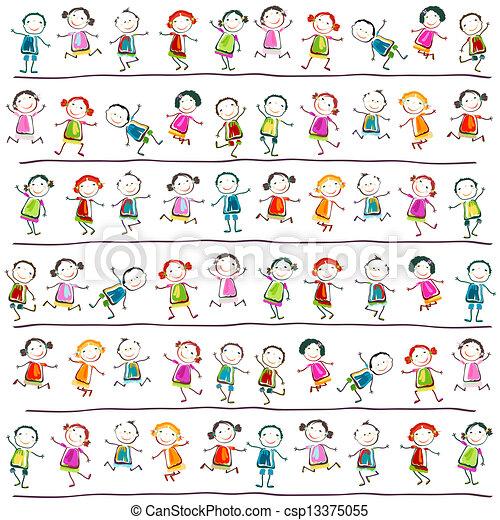 kinderen, vrolijke  - csp13375055