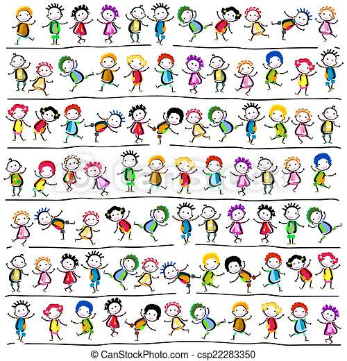 kinderen, vrolijke  - csp22283350