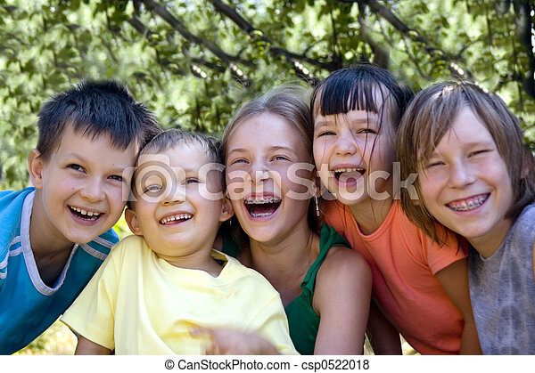 kinderen, vrolijke  - csp0522018