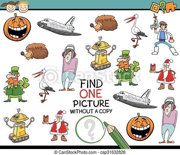 Finden Sie eine Kindergarten-Aufgabe - csp31632826