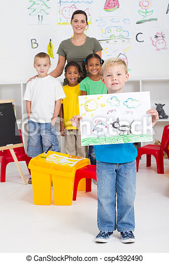 kindergarten boy  - csp4392490