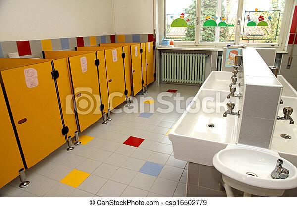 Kindergarten Kinder Badezimmer