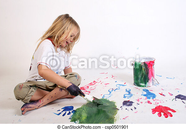 kindergarten paintin - csp0501901
