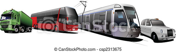 Kinds of city transport. Vector illustration - csp2313675