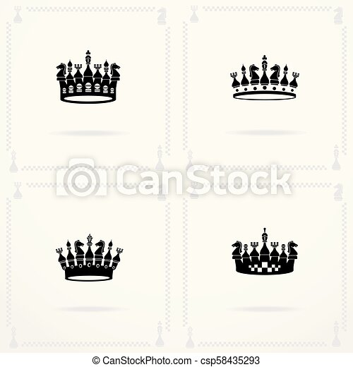 King And Queen Crowns Symbols Vector Collection Of Creative King