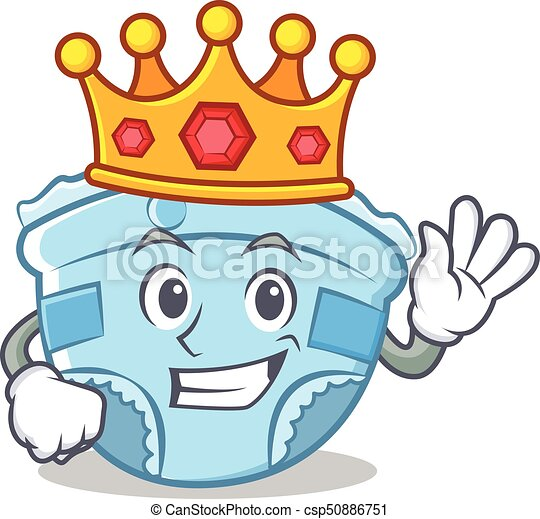 king baby diaper character cartoon vector illustration clipart rh canstockphoto com baby diaper clipart free baby diaper clip art free
